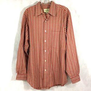 Eddie Bauer Plaid Shirt Long Sleeves Button Front